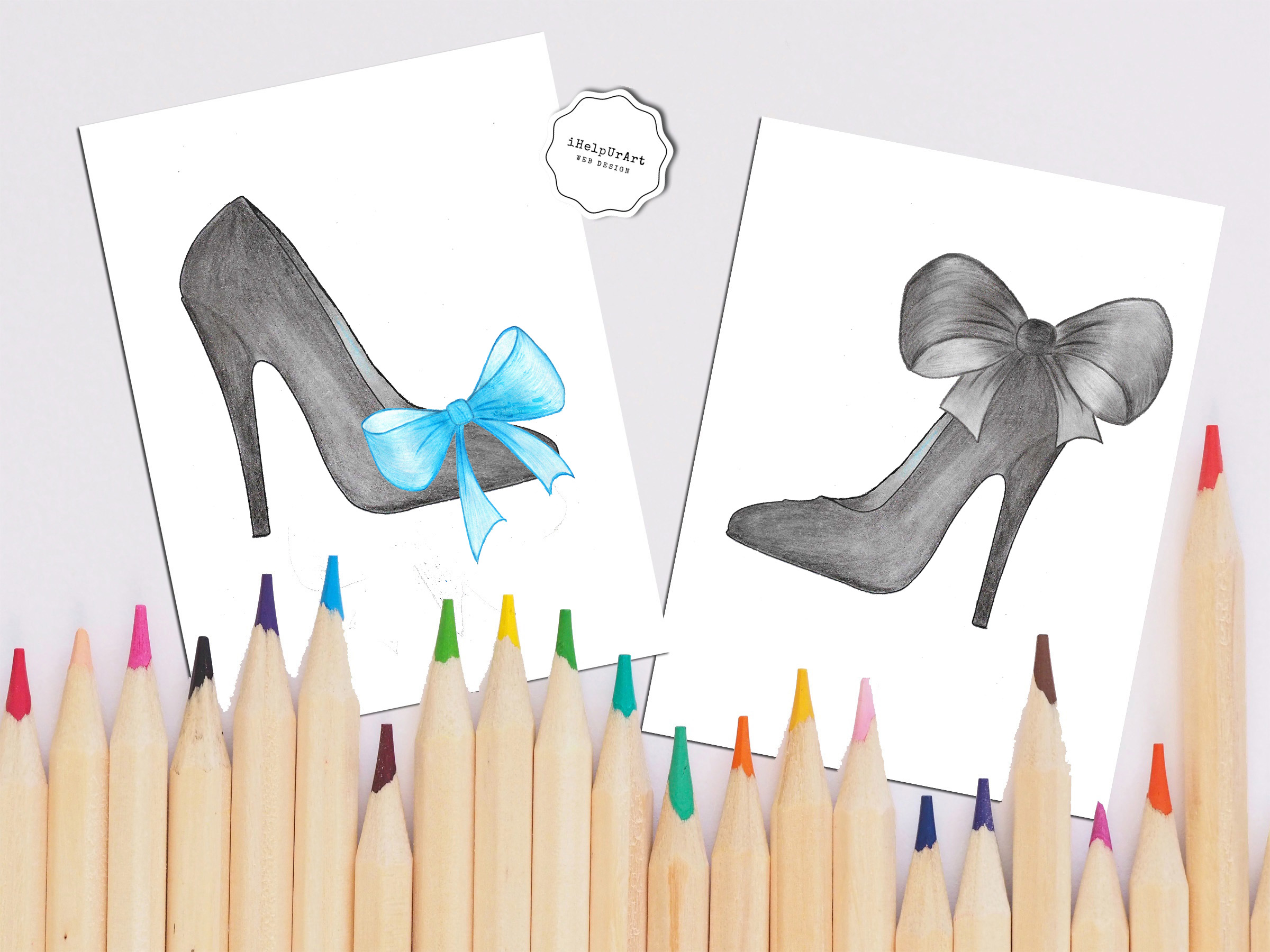 Hand Painted Fashion Clipart example image 3