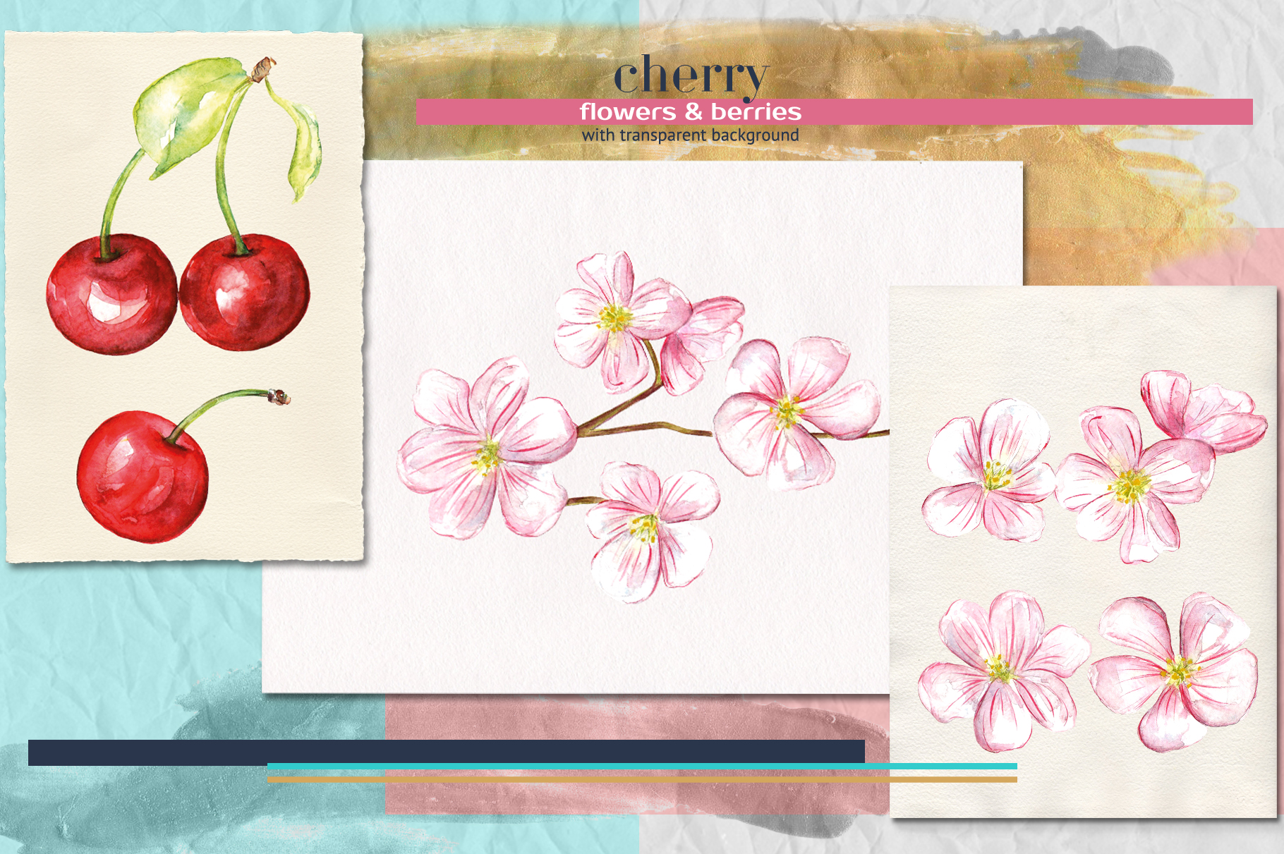 Spring Melody watercolor collection example image 3