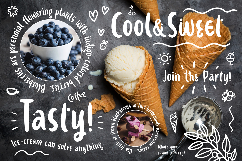 Ice-cream & Berries Font example image 4