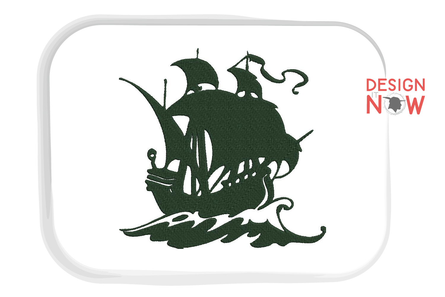Boat Embroidery Design, Sailing Ship Embroidery Pattern, Sea example image 5