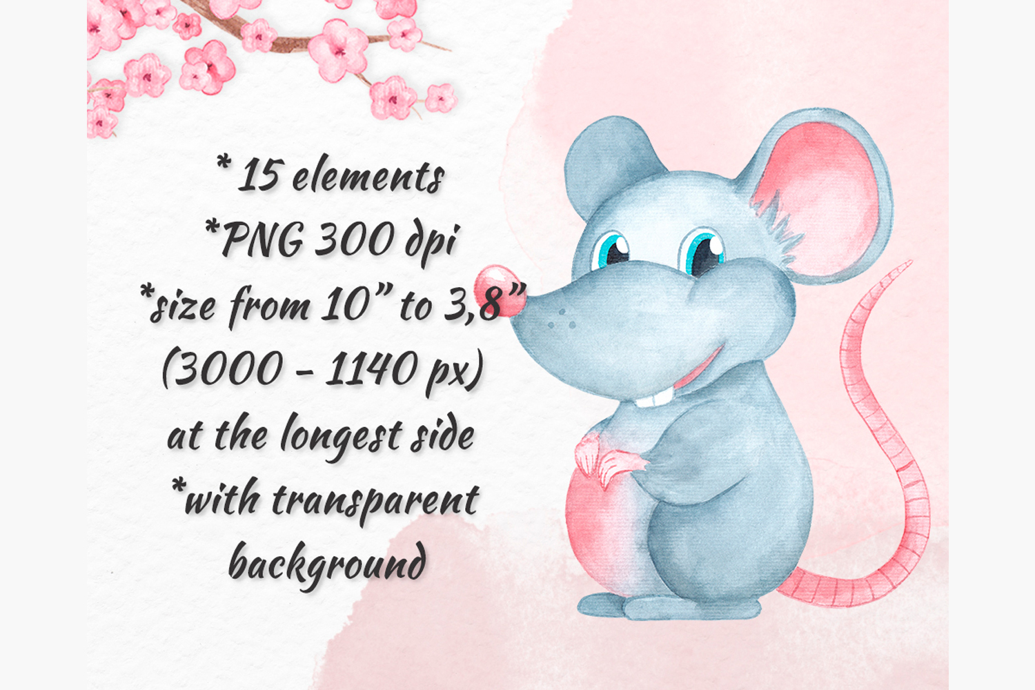 Chinese New Year clipart New year 2020 Year of the Rat example image 3