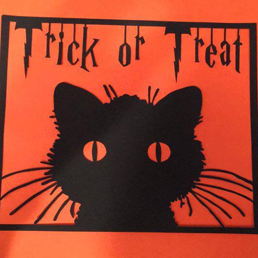 Halloween Papercutting Template Bundle example image 1