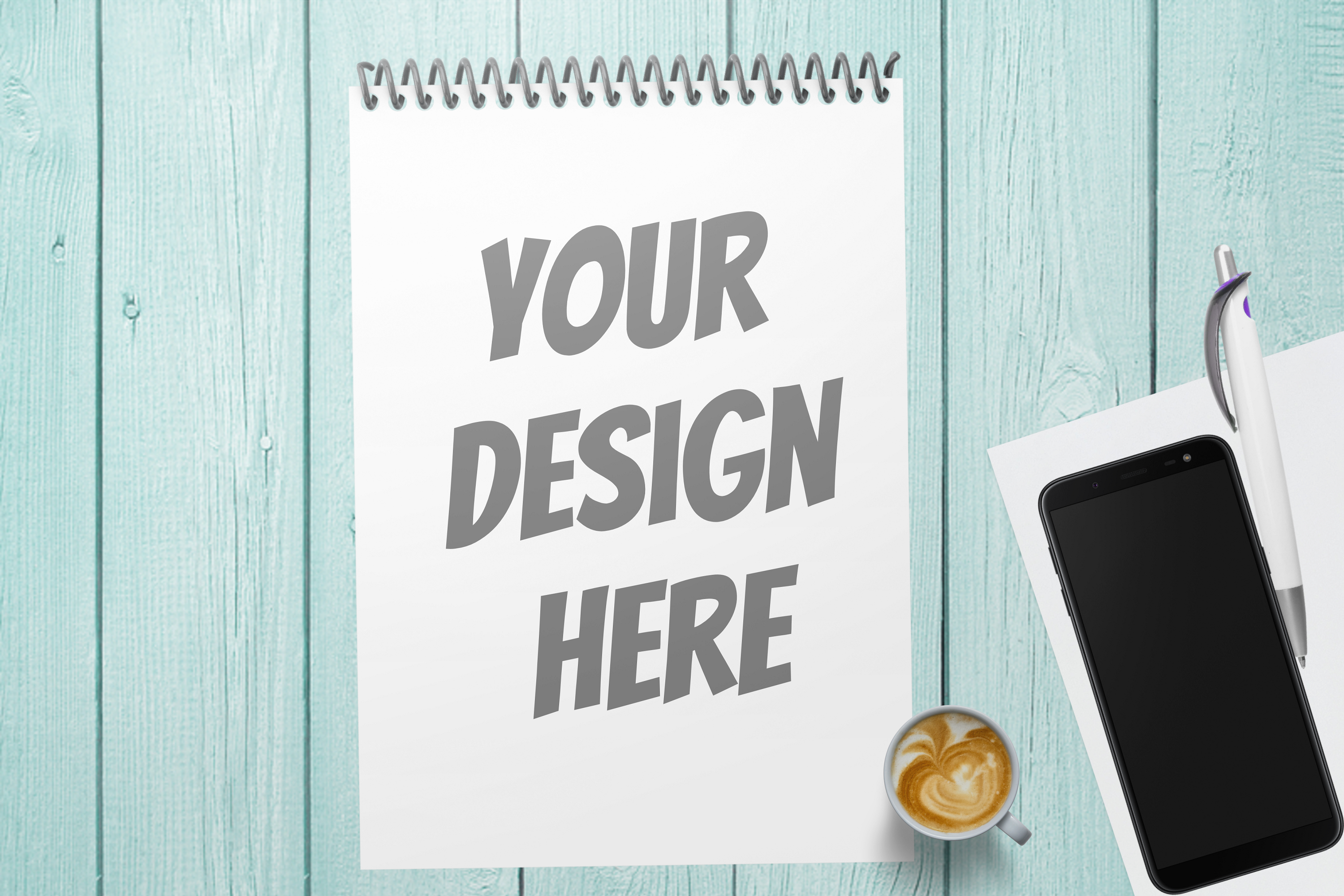 Spiral Note Book Mockup - 3 |PNG | W4000XH2667 example image 4