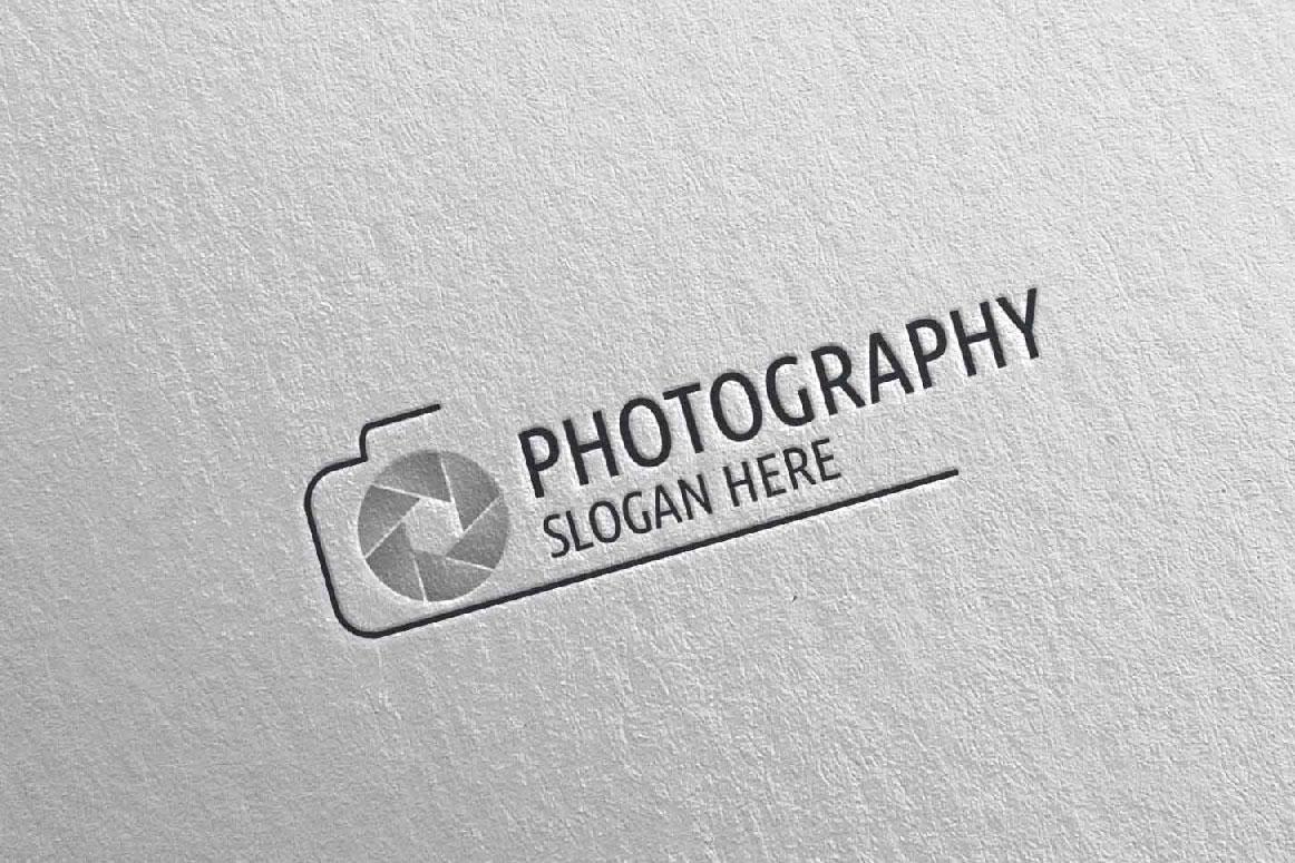 Abstract Camera Photography Logo 3 example image 4