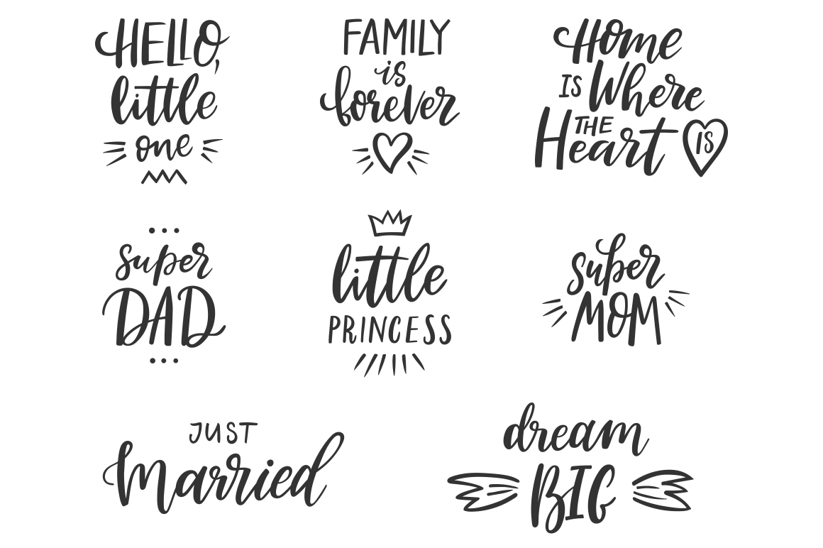 Family Lettering Pack example image 9