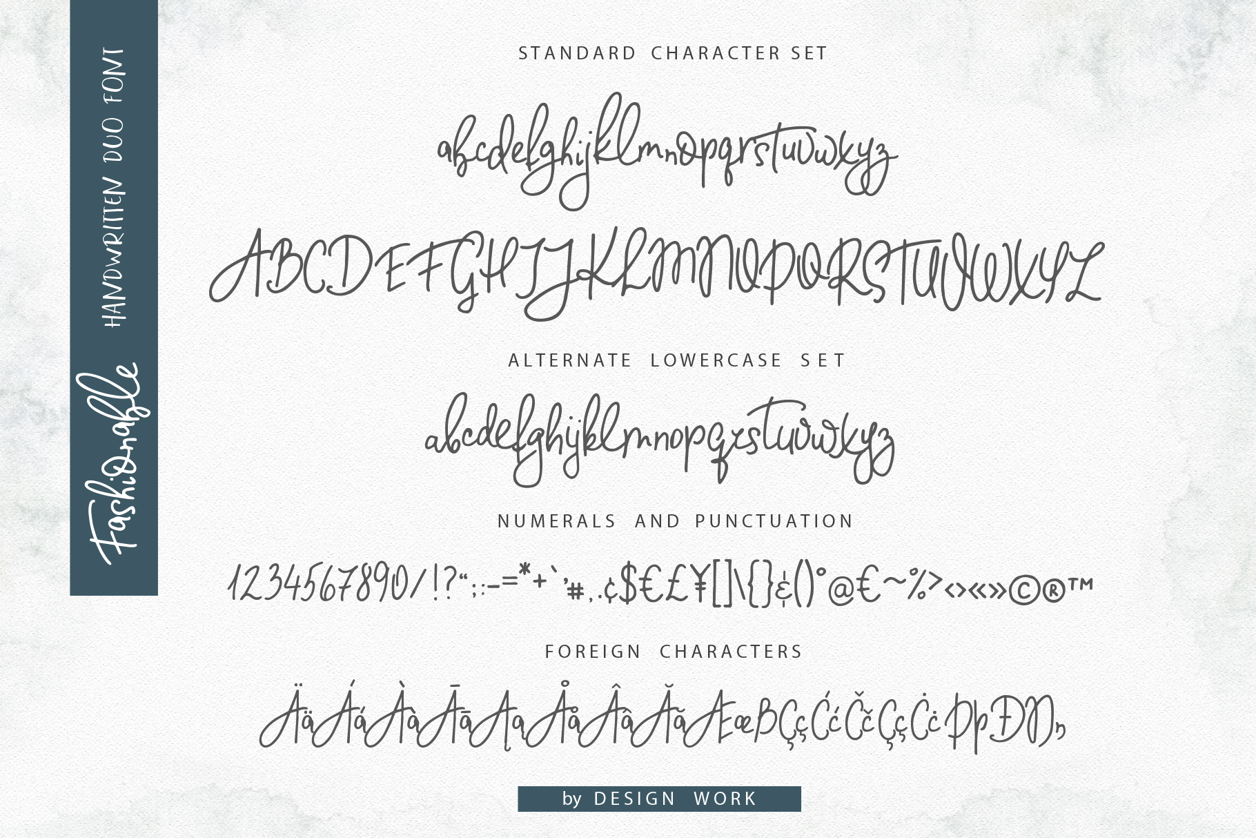 Fashionable Duo Font. Vers.#2 example image 13