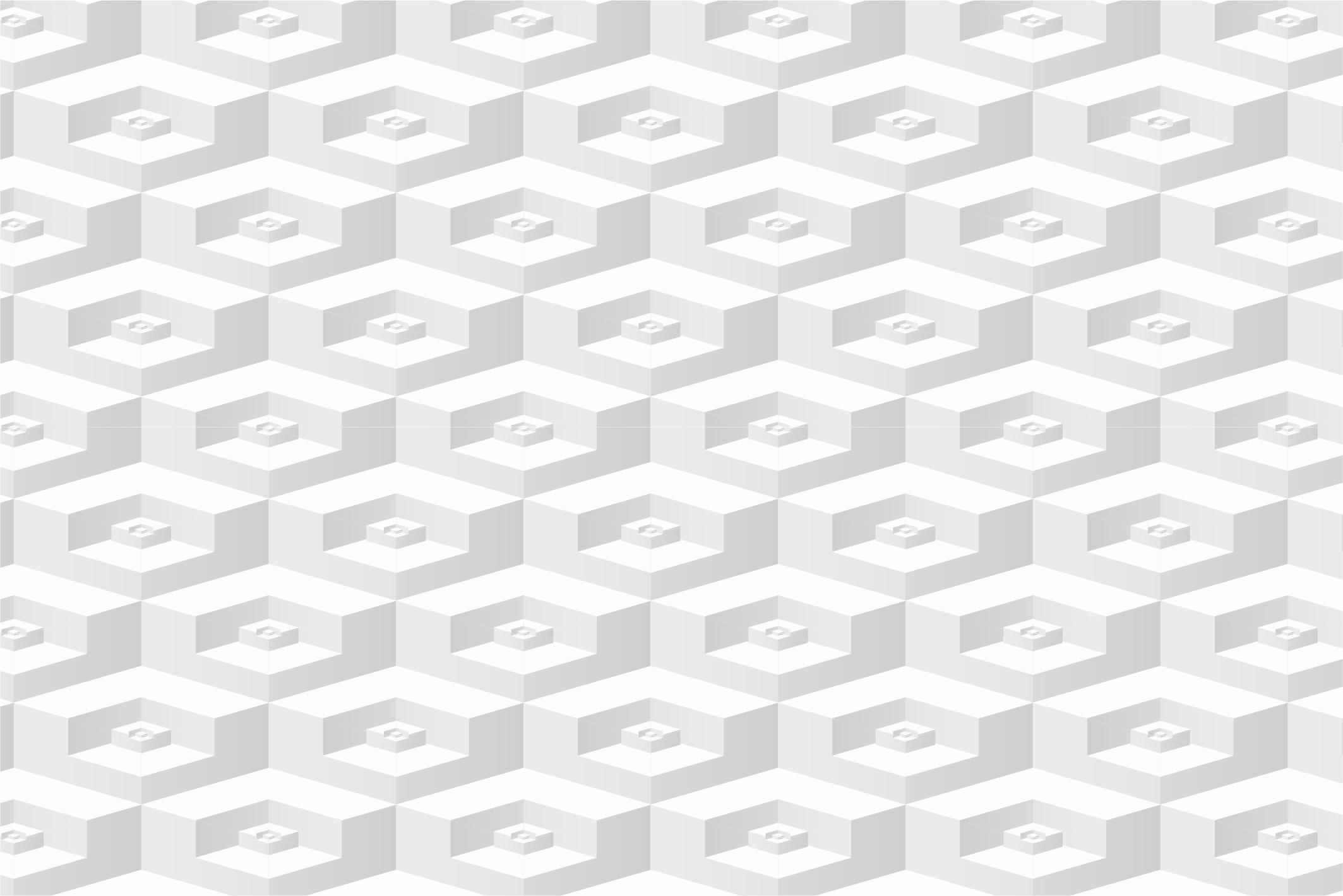 White geometric 3d seamless textures example image 9