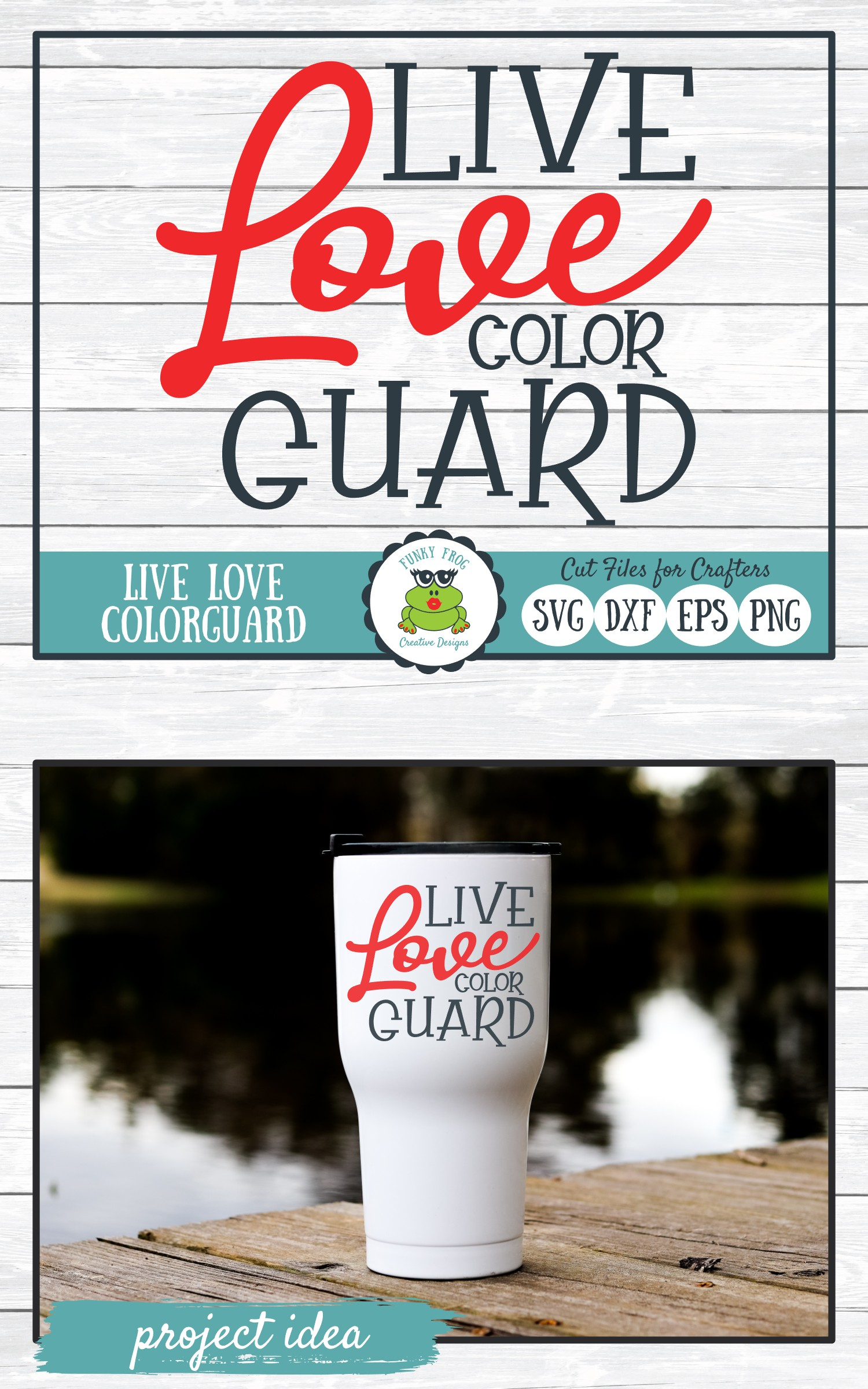 Live Love Color Guard SVG Cut File for Crafters example image 4