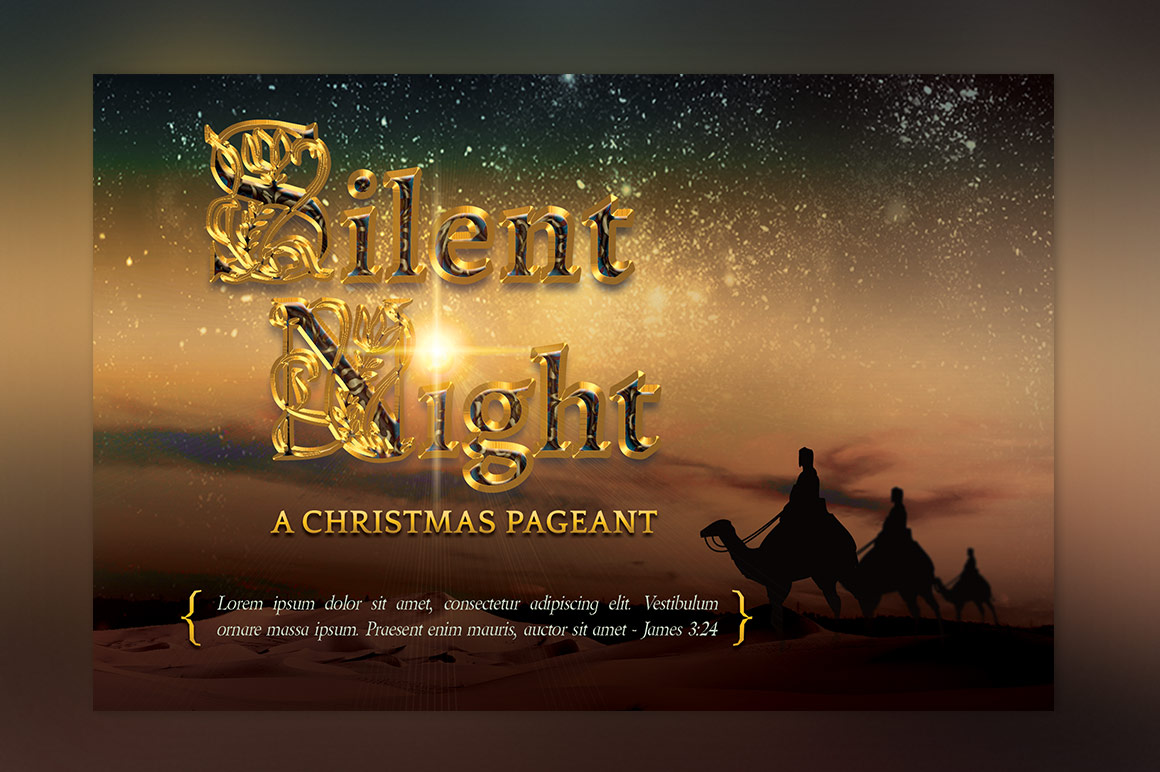 Silent Night Postcard Template example image 2