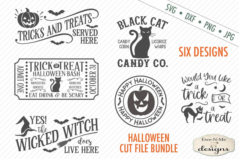 Halloween Mini Bundle - Trick or Treat - Black Cat - SVG DXF example image 1