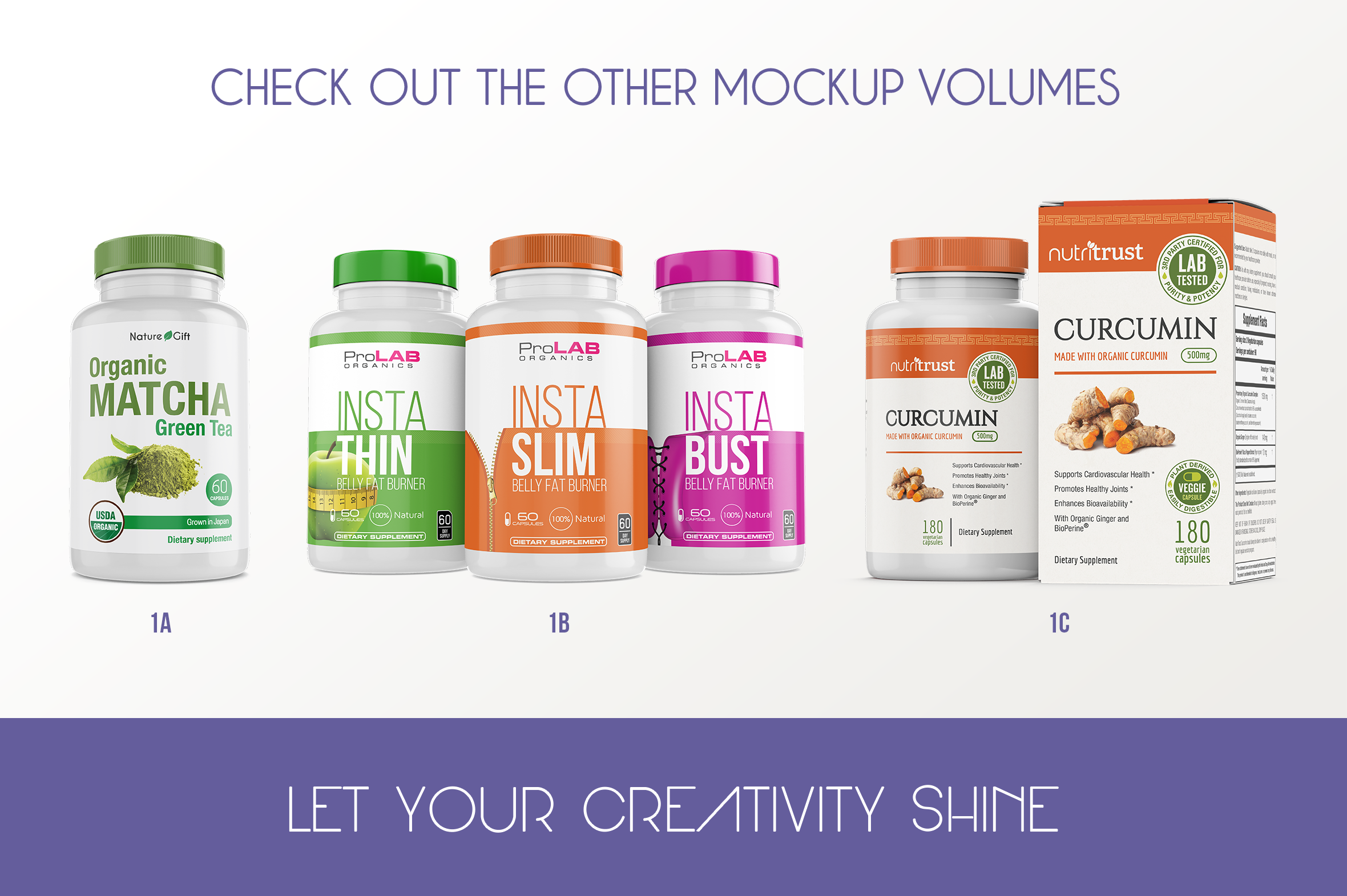 Dietary Supplement Mockup v. 1B example image 9
