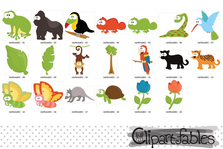 RAINFOREST clipart, Cute wild animals clip art, Jungle art example image 2