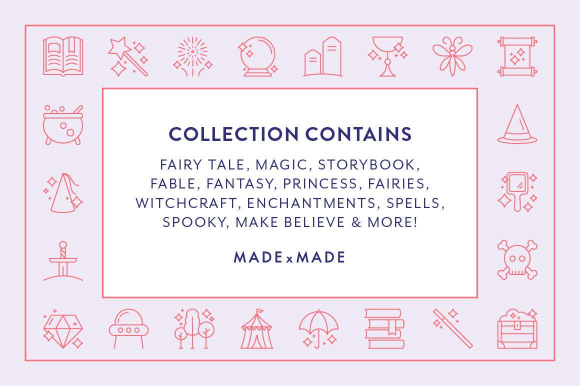 Line Icons - Fairy Tale example image 6