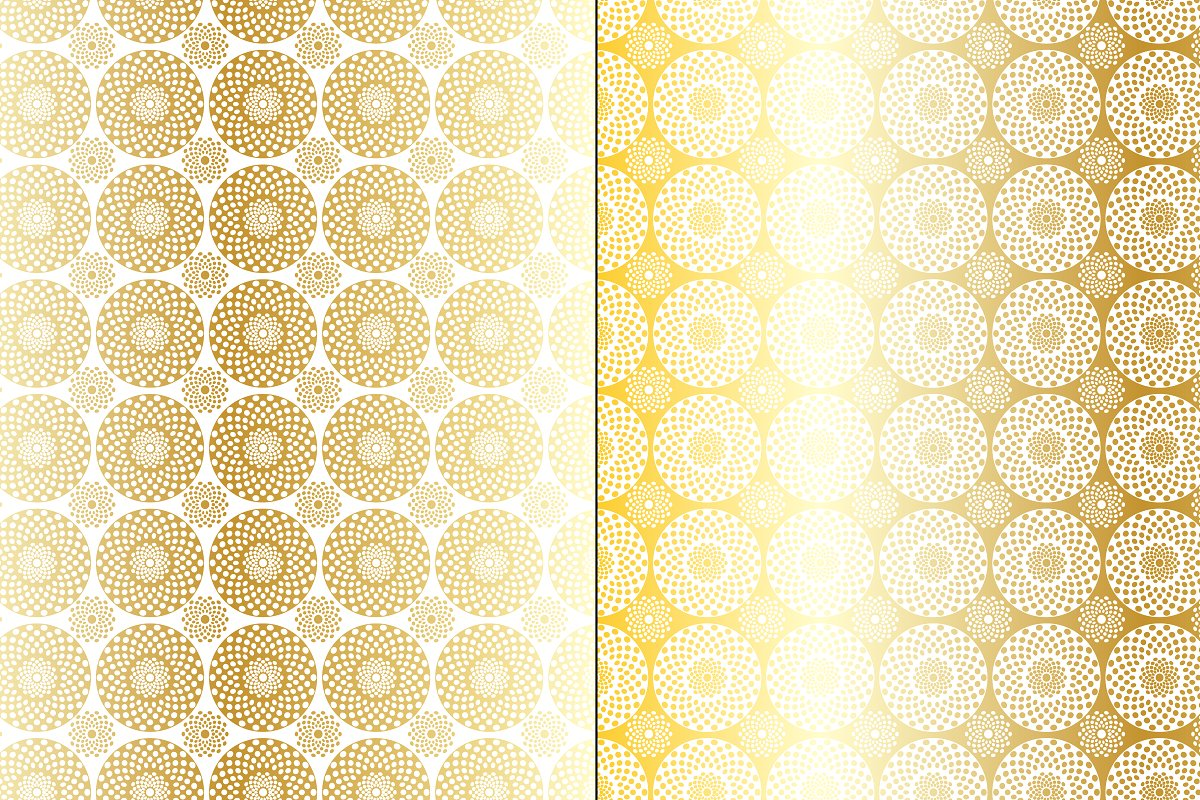 Gold Medallion Patterns example image 4