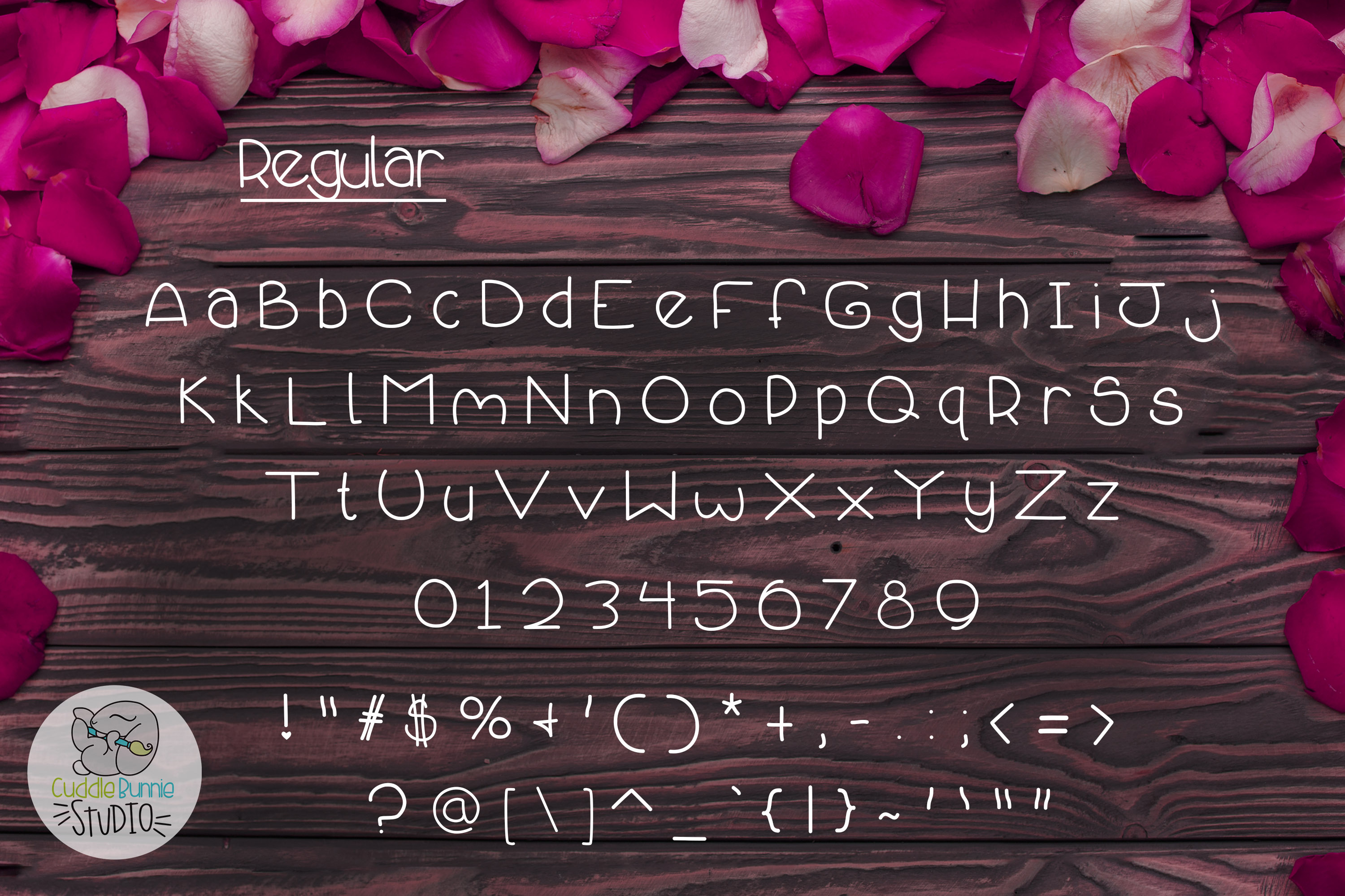 Smothered Rose Petals | A Cute Valentine Font Duo example image 2
