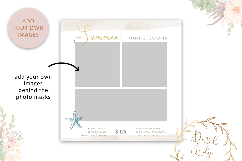 PSD Photo Summer Beach Mini Session Card Template - #42 example image 2