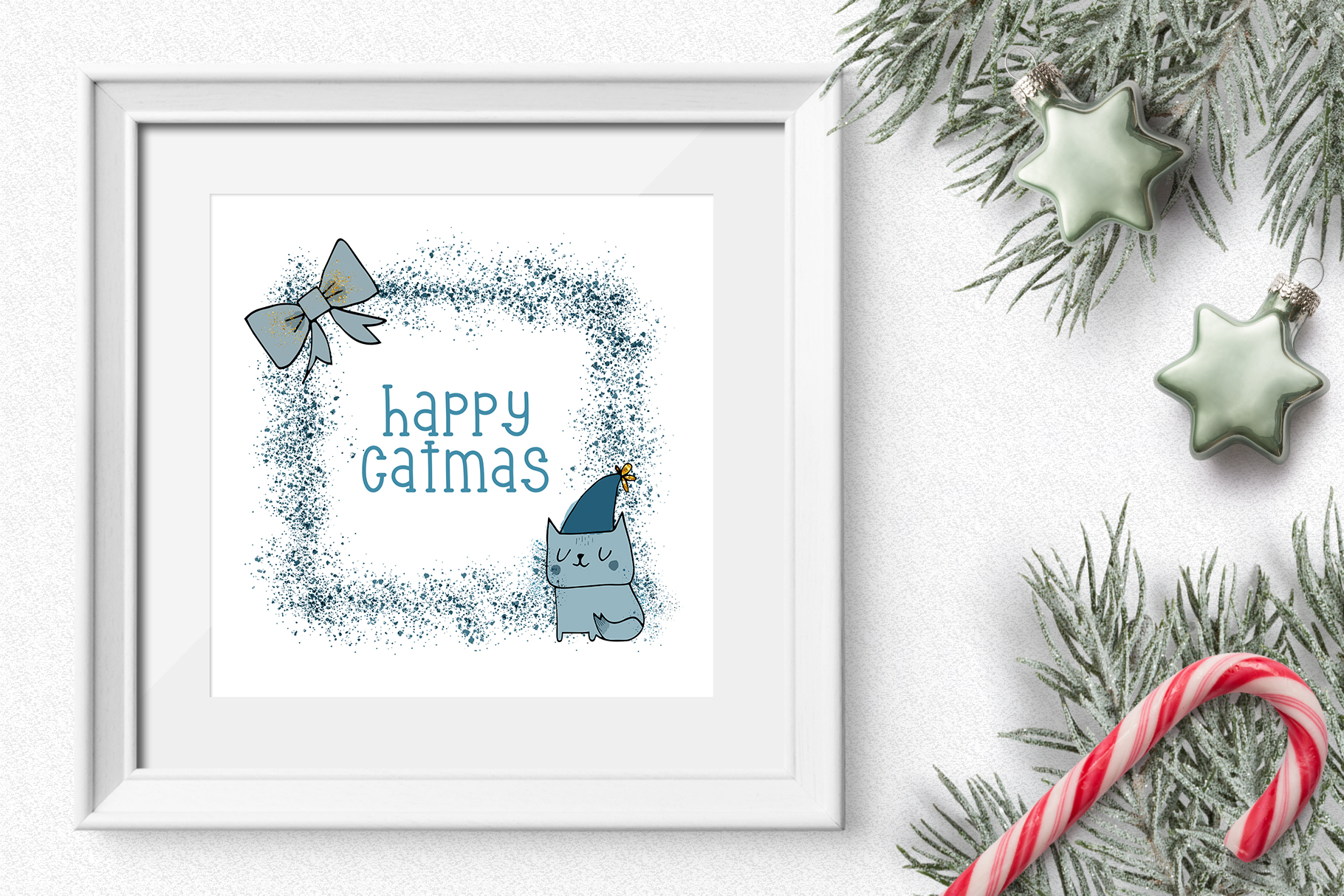 Christmas Clipart and Pattern Bundle example image 11