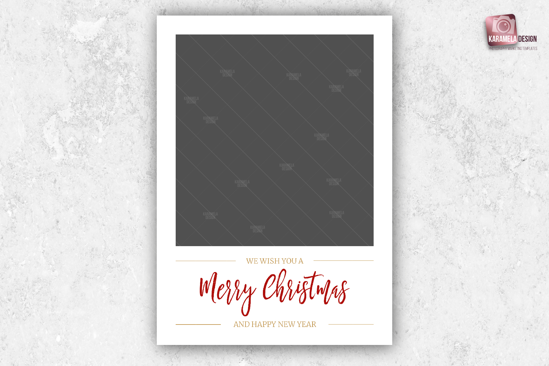 Christmas Photo Card Template example image 4