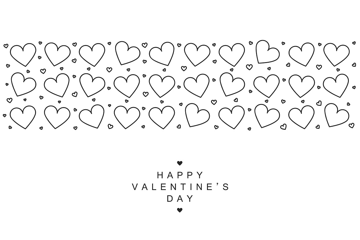 Valentine's day card. Hand drawn. example image 4