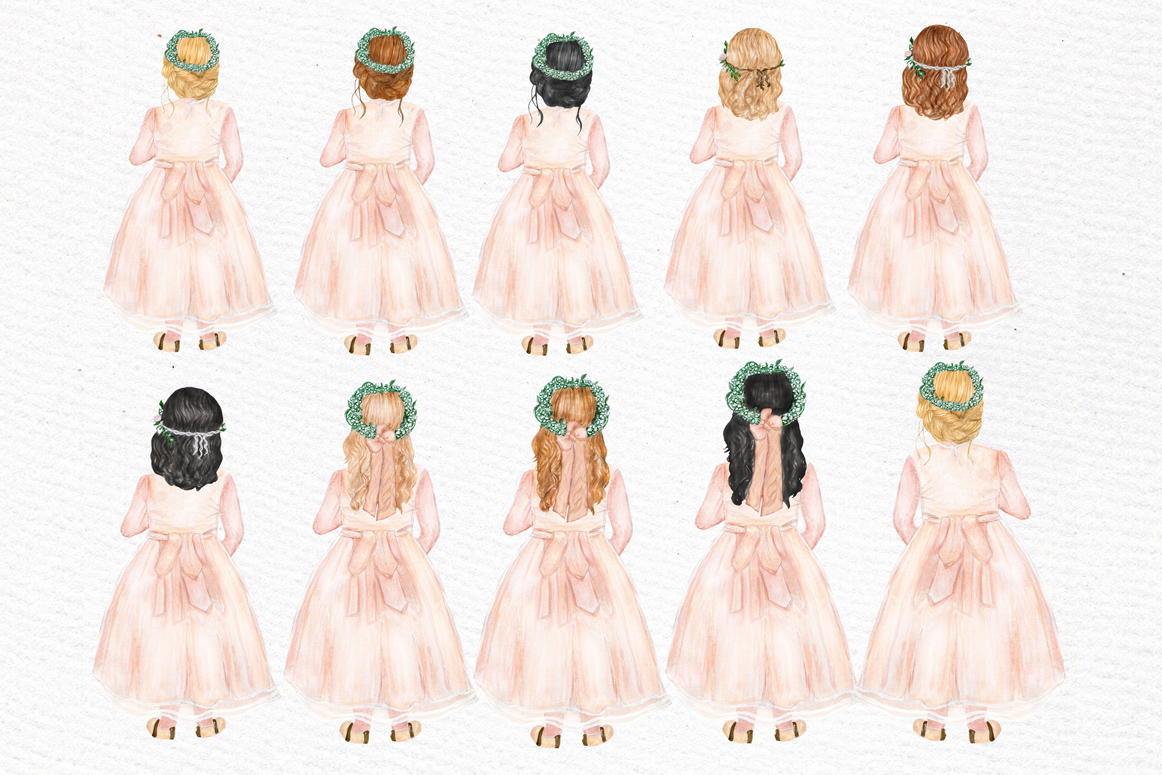 Flower girl clipart Wedding clipart example image 2