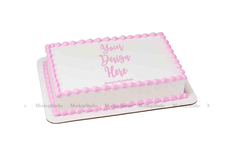 Sheet Cake Mockup Bundle, Edible Cake Print Mock Up Display example image 3