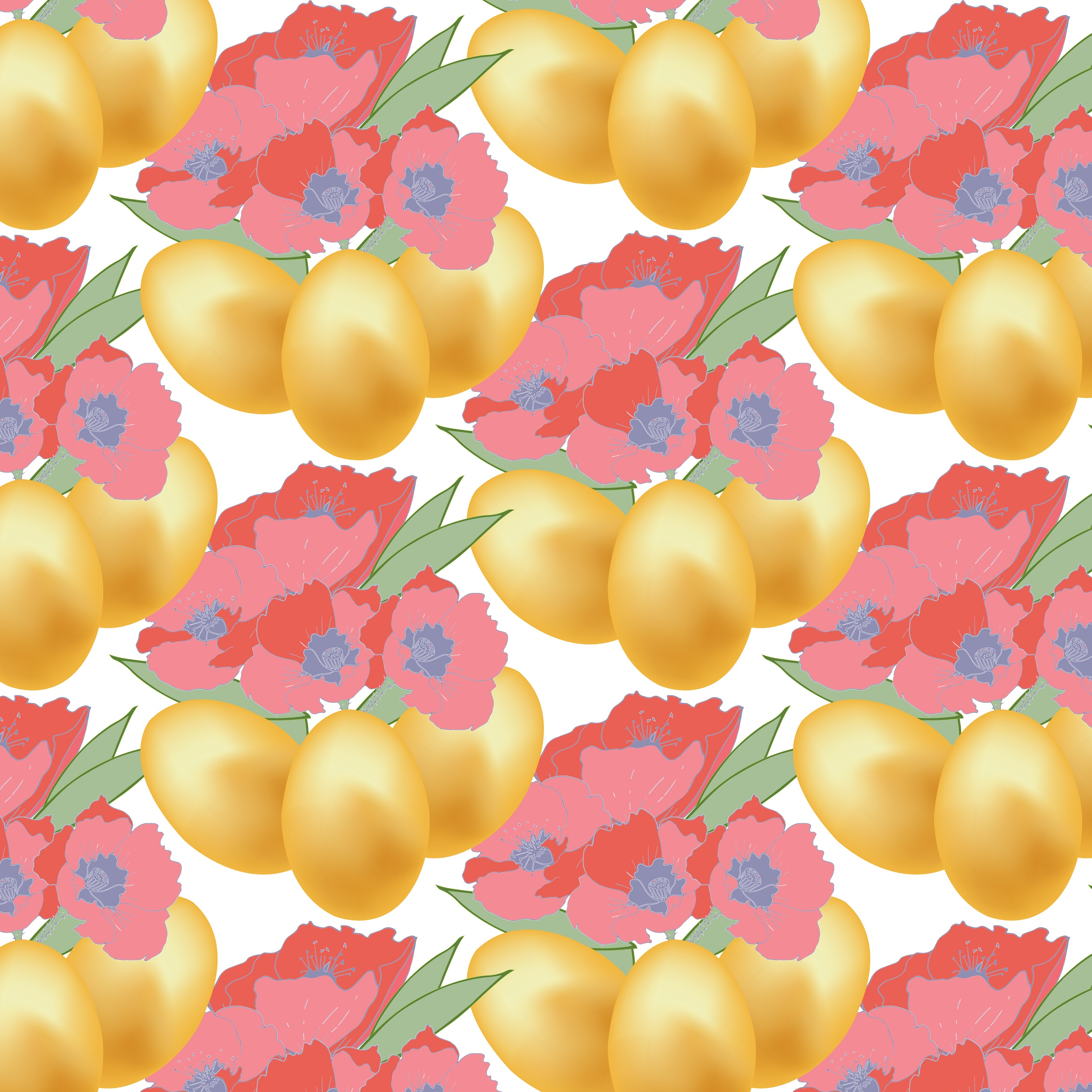 Easter pattern. Seamless pattern with Easter motifs. example image 6