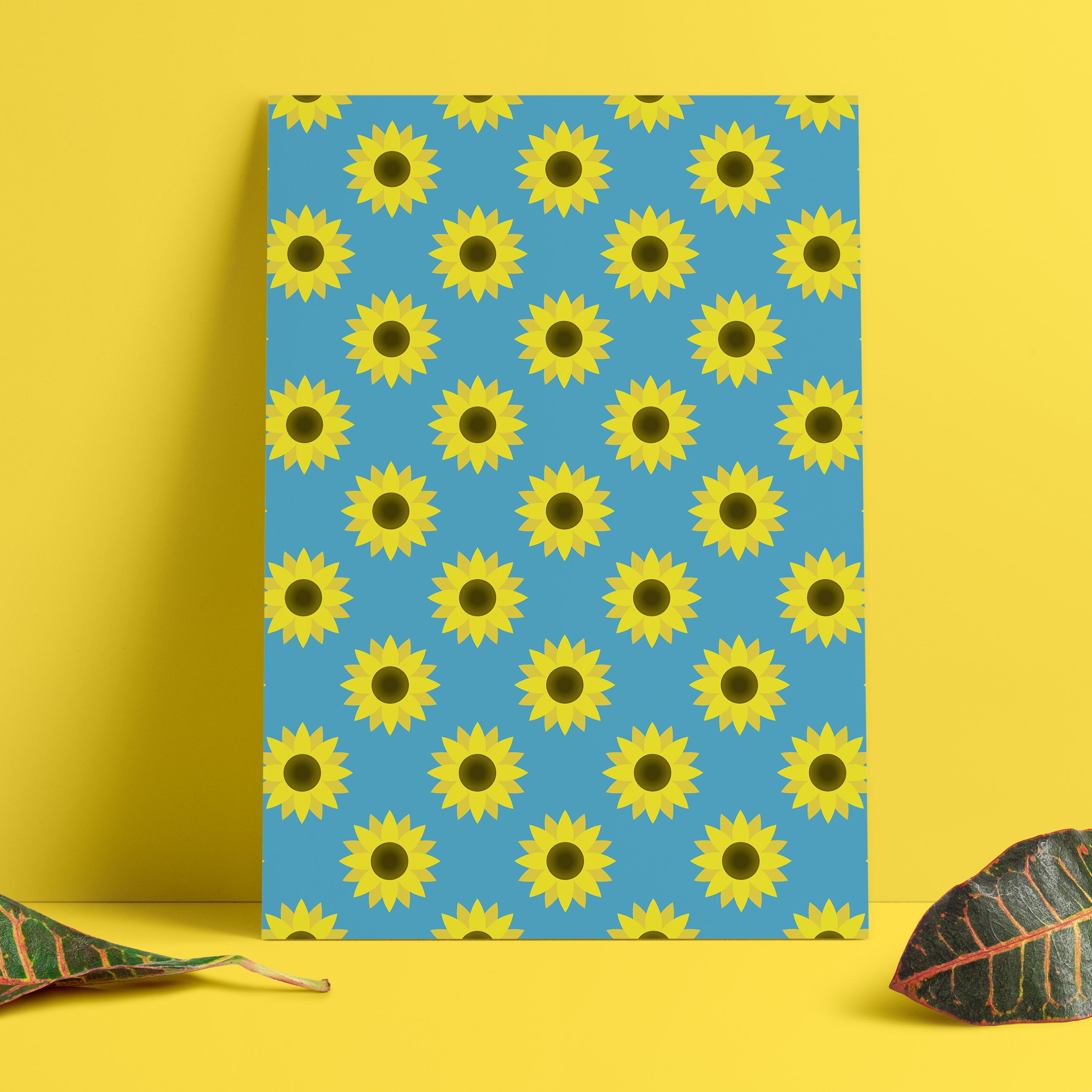 Blooming Sunflowers Digital Paper example image 8