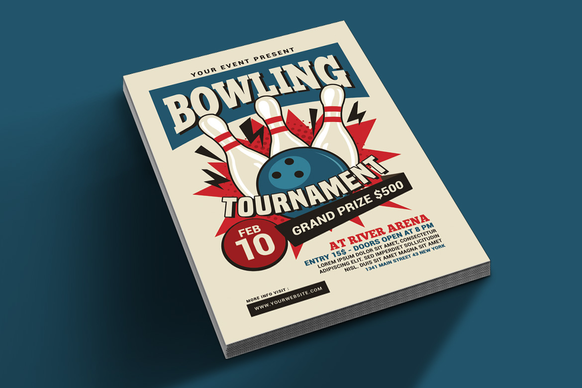 Bowling Tournament Flyer example image 2