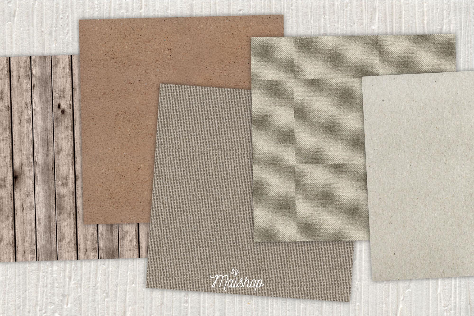 """Digital Paper Pack """"Rustic Natural"""" Set 01 example image 2"""
