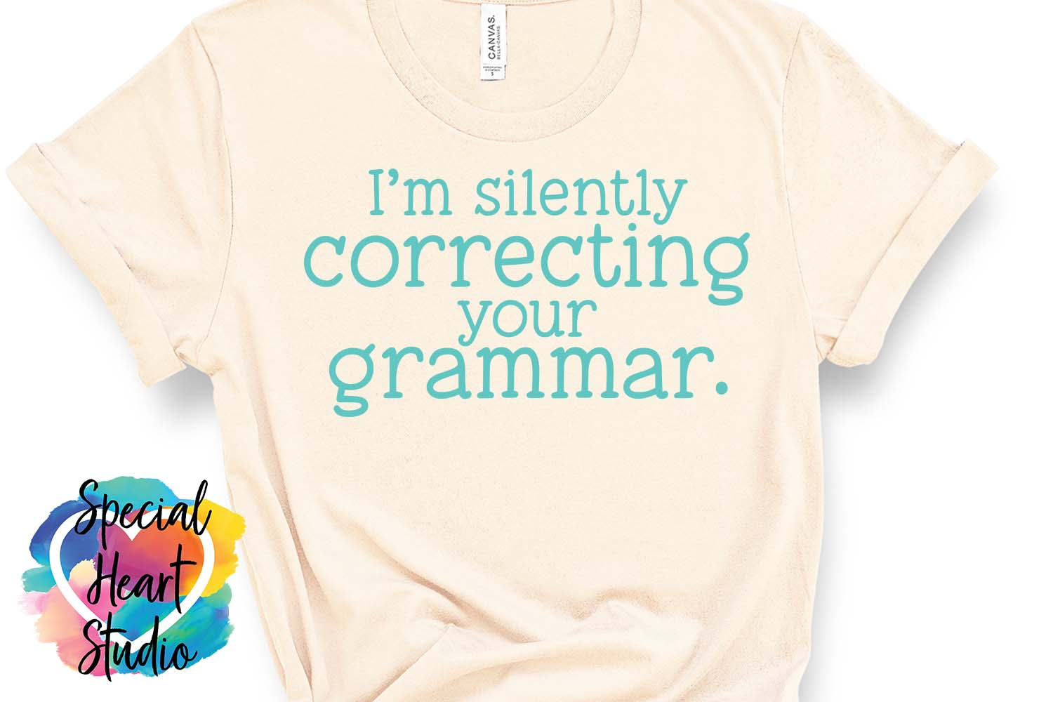 Silently correcting grammar - A sarcastic and funny SVG file example image 3