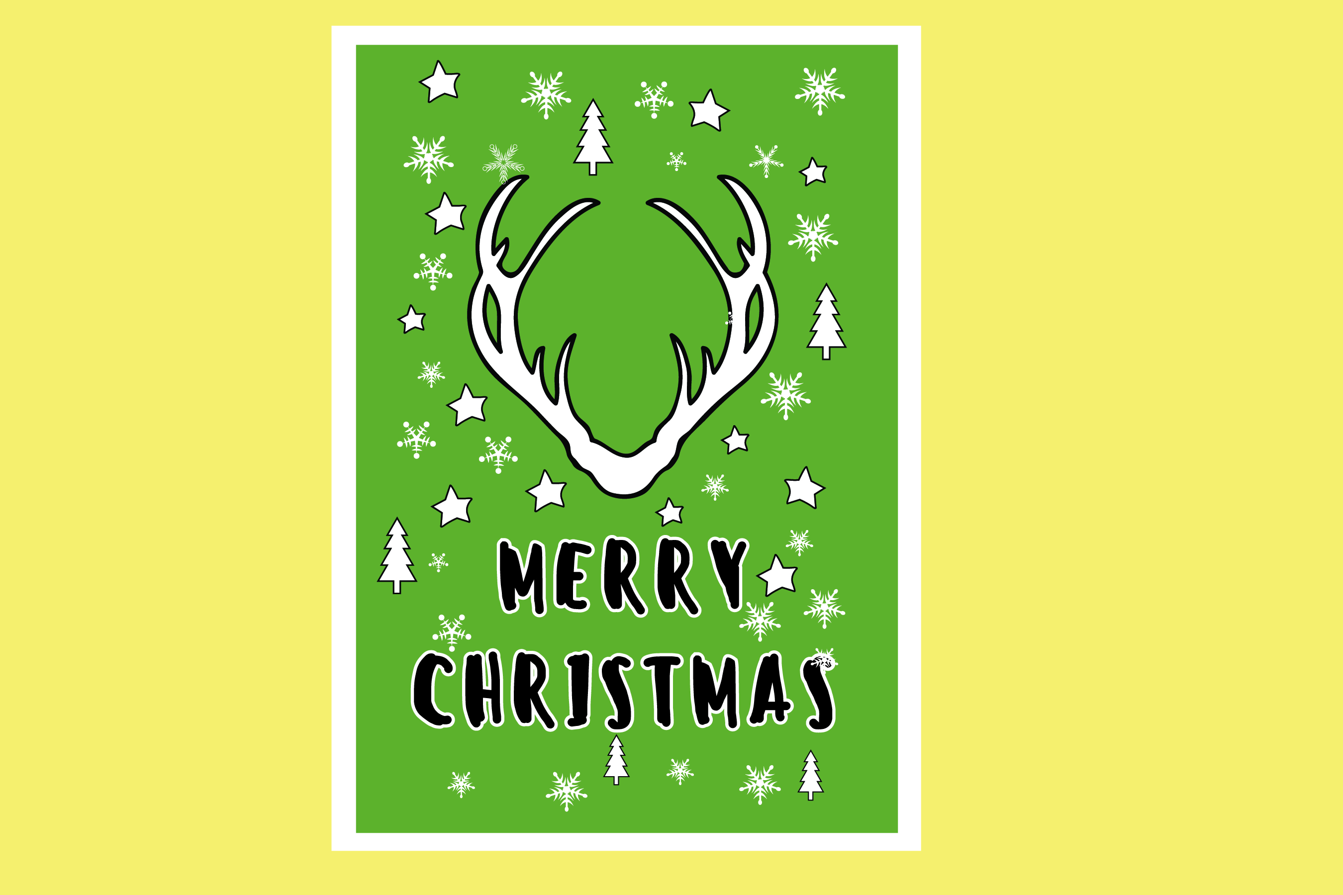 AA25-Christmas Greetings cards 6 Designs - SVG Bundle example image 4