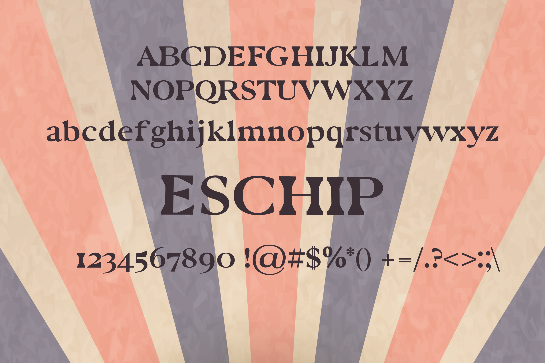 Eschip Font example image 2
