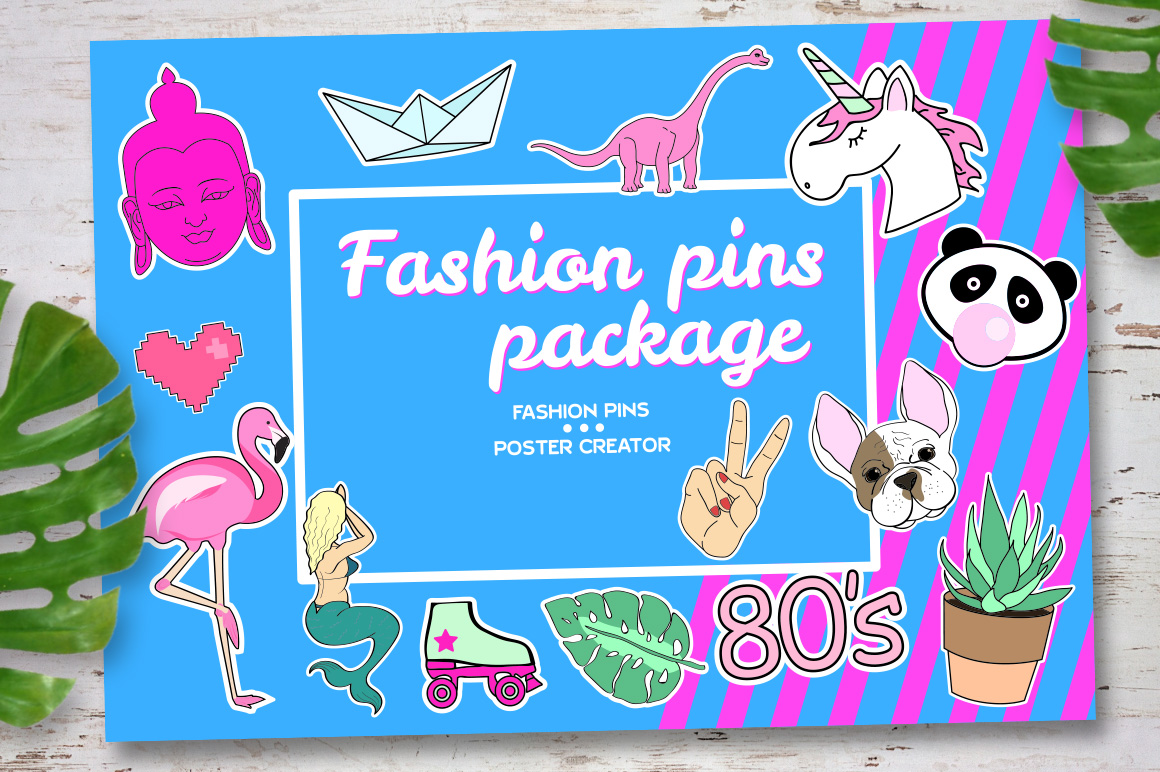 Fashion pins package example image 1