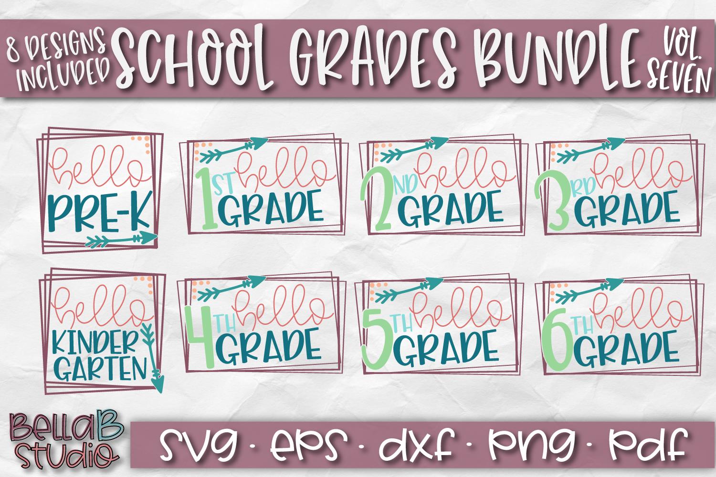 School Grades SVG Bundle, Back To School SVG Bundle, Hello example image 1