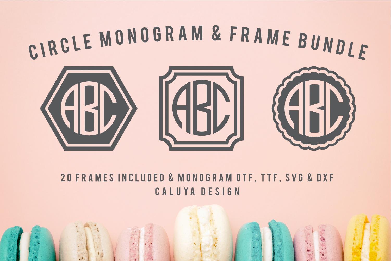 Circle Monogram | 20 Frame Bonus Included example image 1