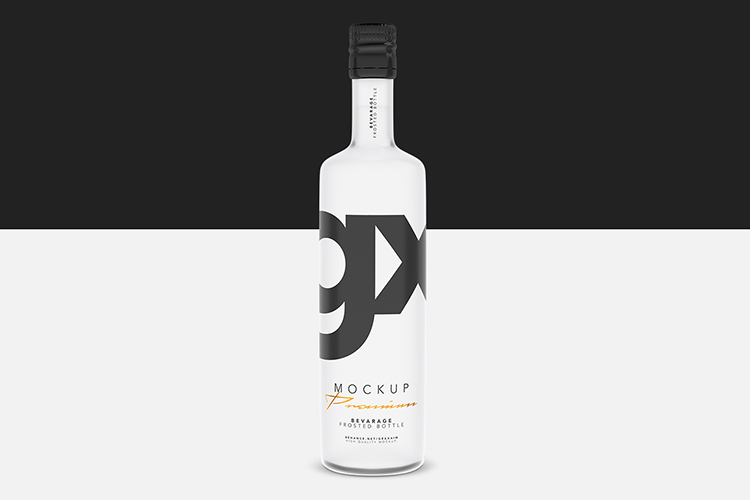 Beverage - Frosted Bottle - Mockup example image 2