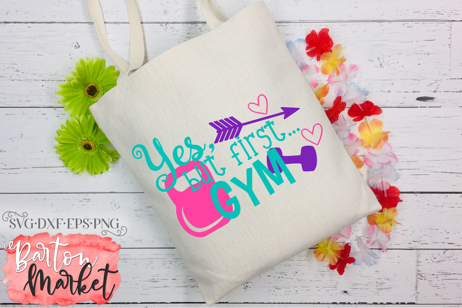 Yes But First Gym SVG DXF EPS PNG example image 2