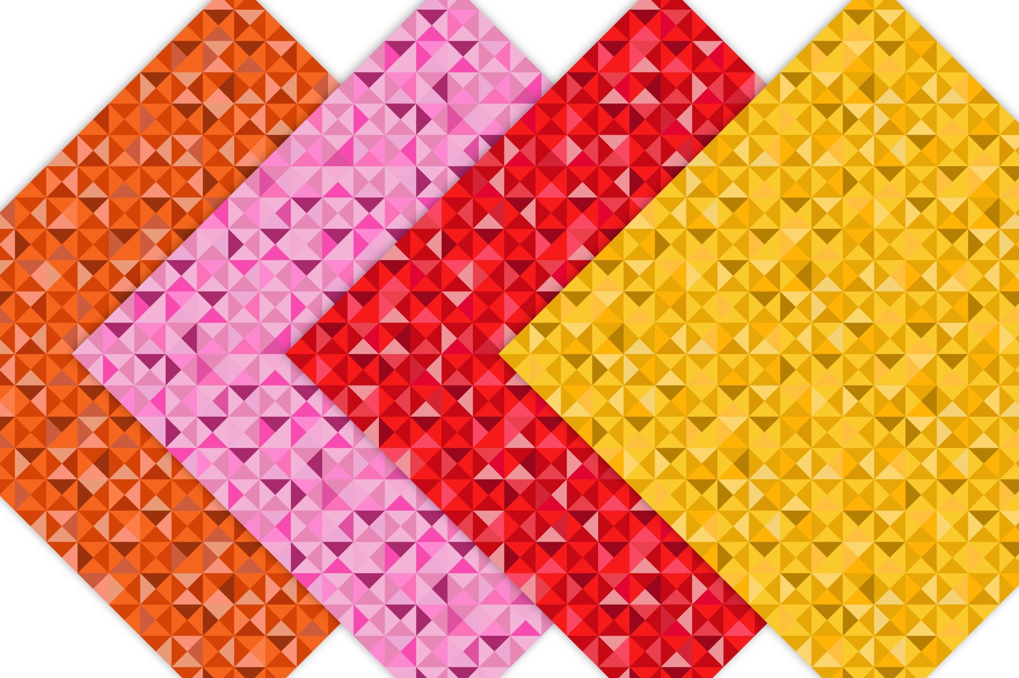 Colorful Mosaic Geometric Pattern example image 5