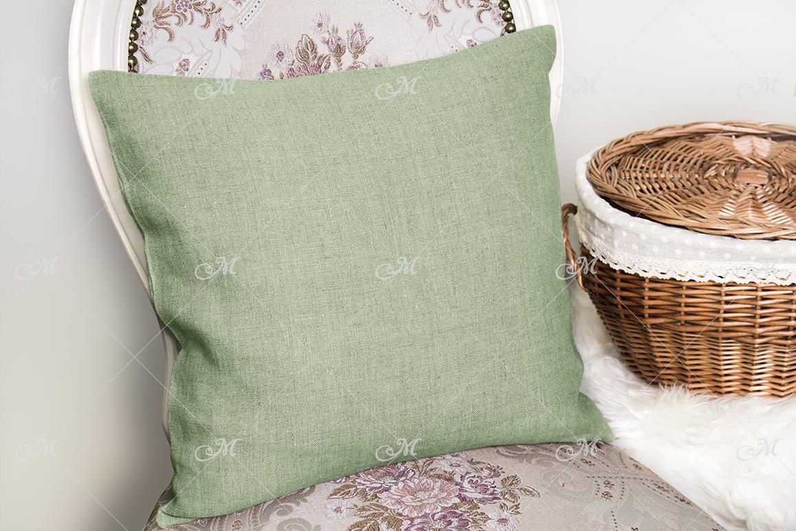 Canvas Cushion Mock-up. PSD+JPG example image 4