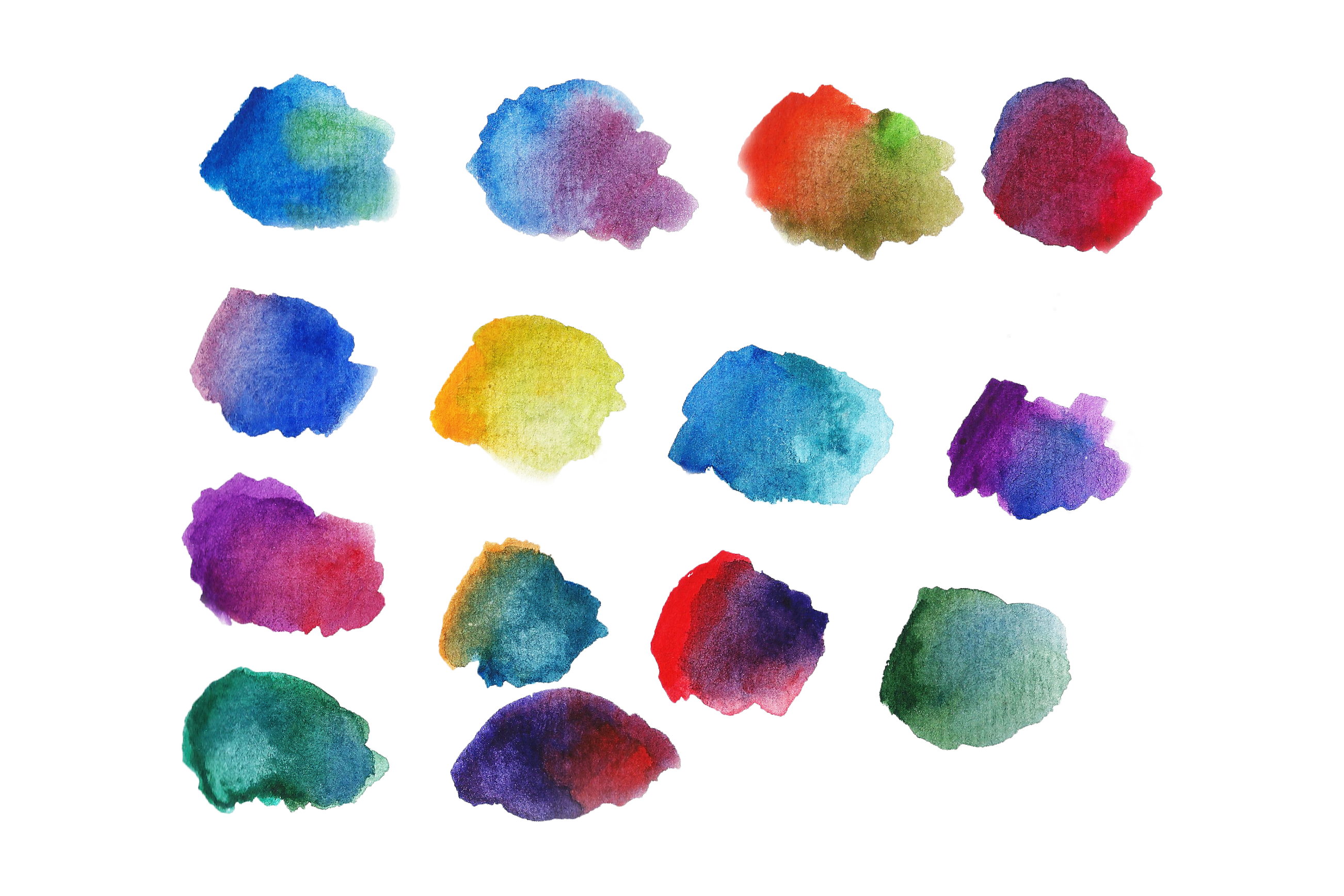 Basic Watercolor Shapes example image 4