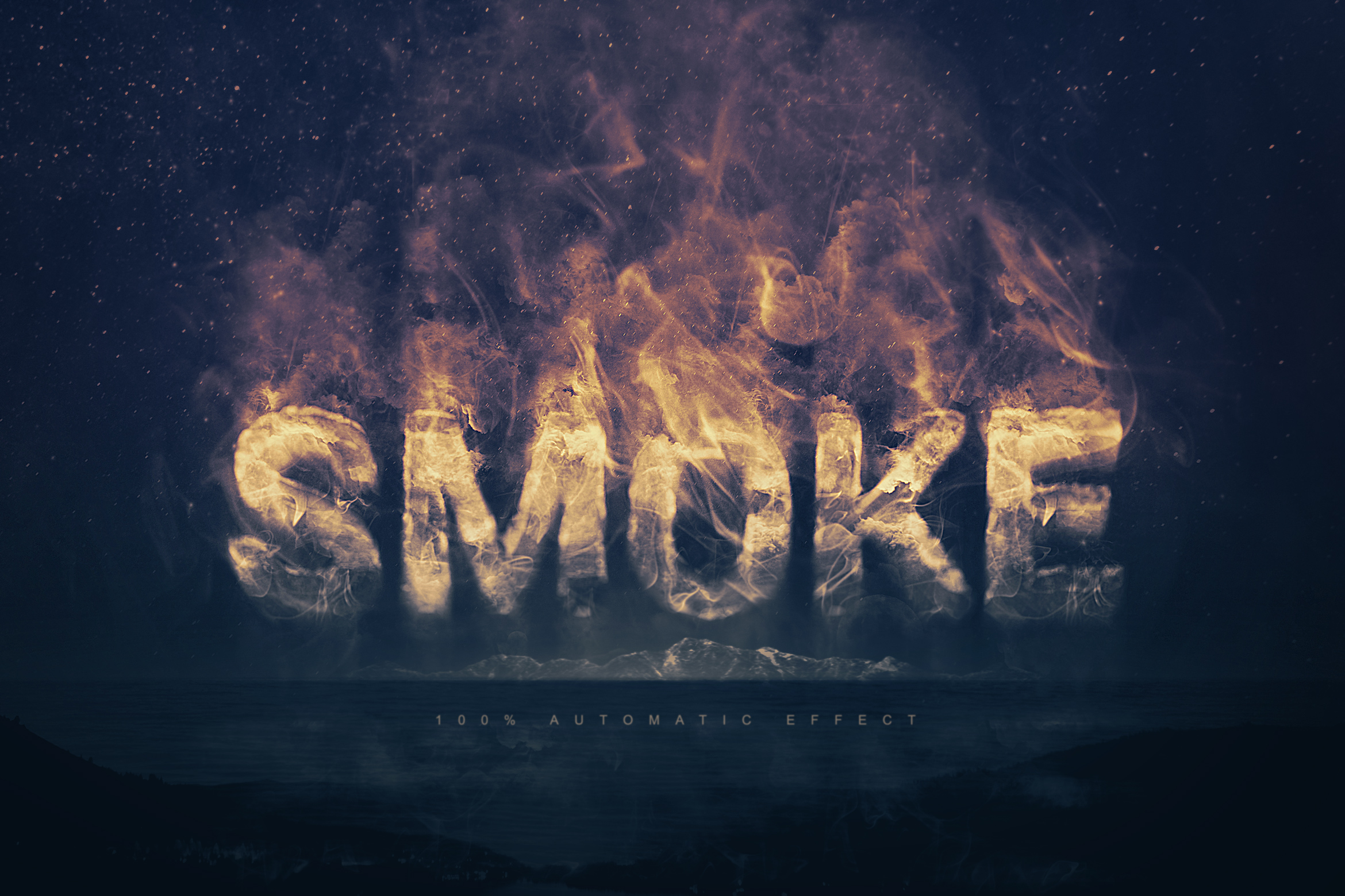 Smoke Logo Text Effect Template example image 1