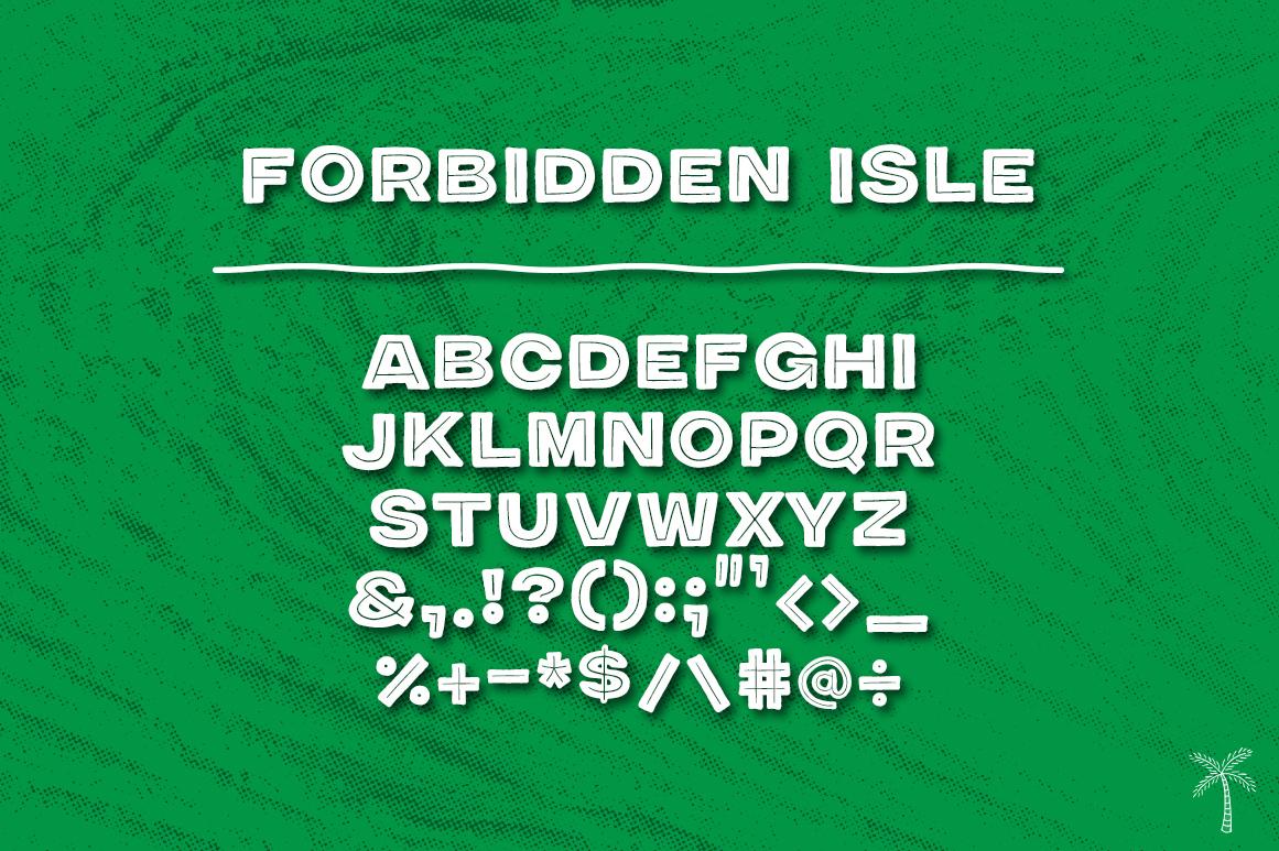 Forbidden Isle Modern Tiki Font example image 3