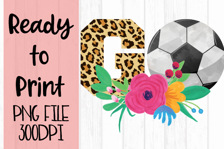 Soccer Go Leopard Ready to Print example image 1