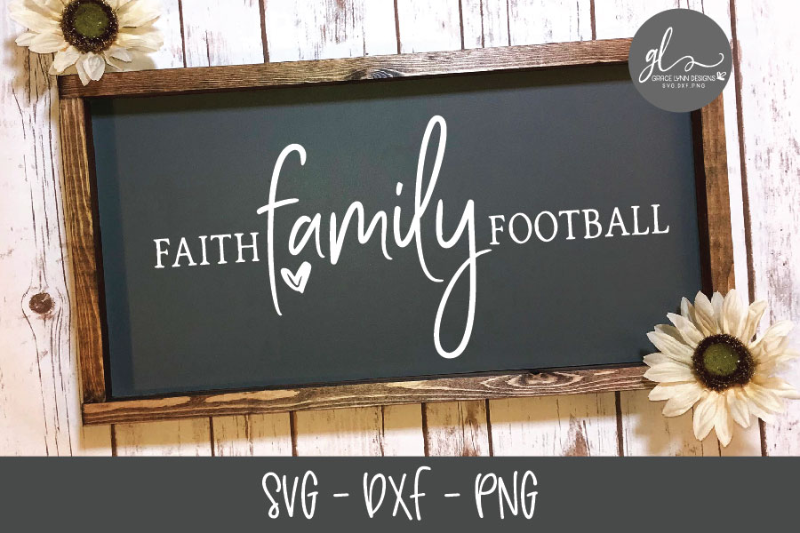 Faith Family Football - SVG Cut File example image 1