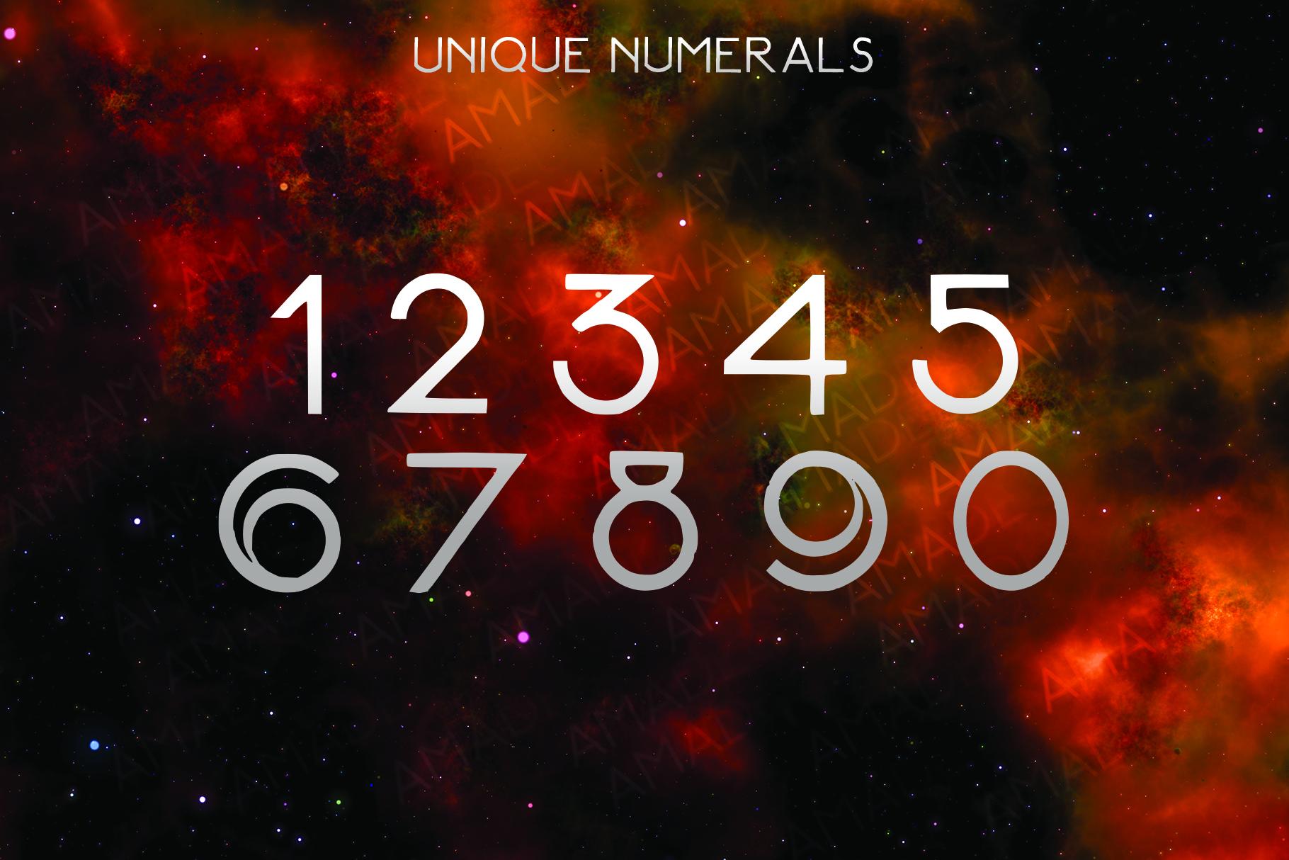 AMADEUS, a futuristic font example image 3