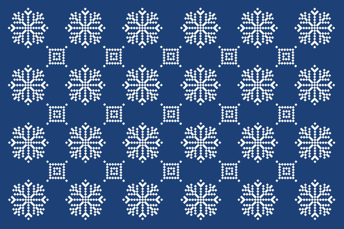 Christmas snowflake pattern example image 2