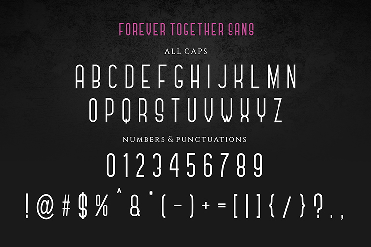 Forever Together - Romantic Font Duo example image 8