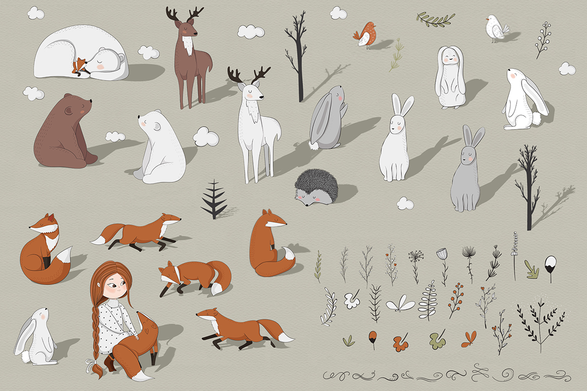 In the forest. Vector clipart example image 2