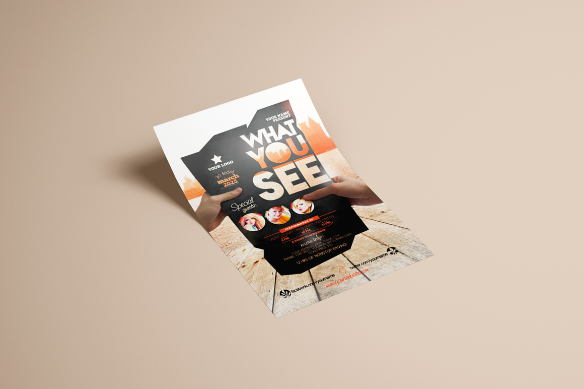 What You See Flyer Template example image 3