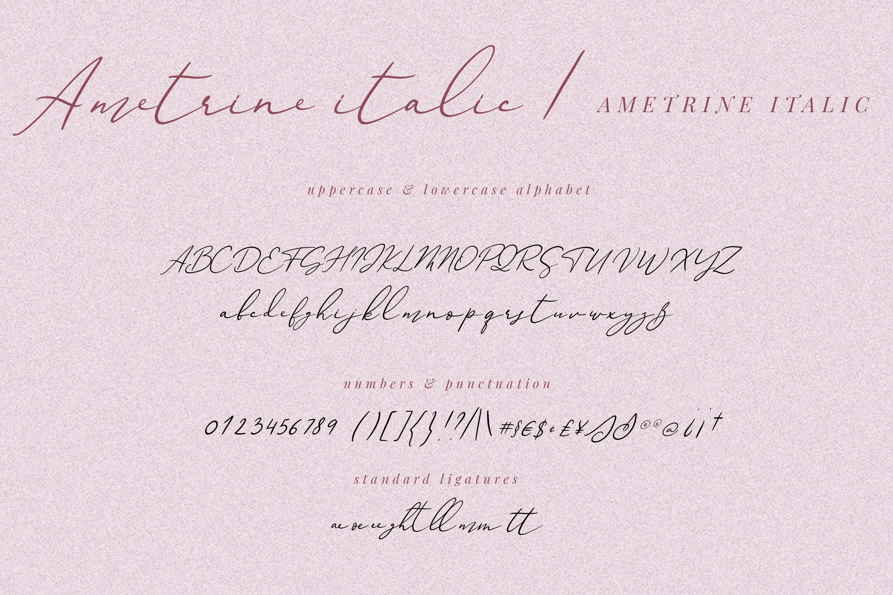 Ametrine, super-casual style font example image 3